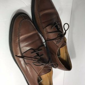 Johnston & Murphy Shoes - Mens Johnston & Murphy Brown Leather Shoes 10.5